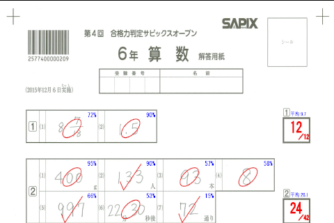 SAPIX小学部 | 合格力判定サピックスオープン|公開模試